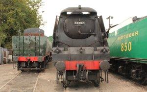 2013 Watercress Line - Ropley - Battle of Britain class 34051 Sir Winston Churchill & West Country 34007 Wadebridge