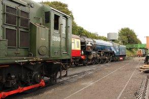 2013 Watercress Line - Ropley - class 11 diesel shunter 12049 & A1 class 60163 Tornado
