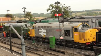 2013 Watercress Line - Ropley - Class 37 D6836 & class 37 37901 Mirrlees Pioneer