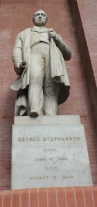 2013 National Railway Museum York - The Great Gathering - The Great Hall George Stephenson statue