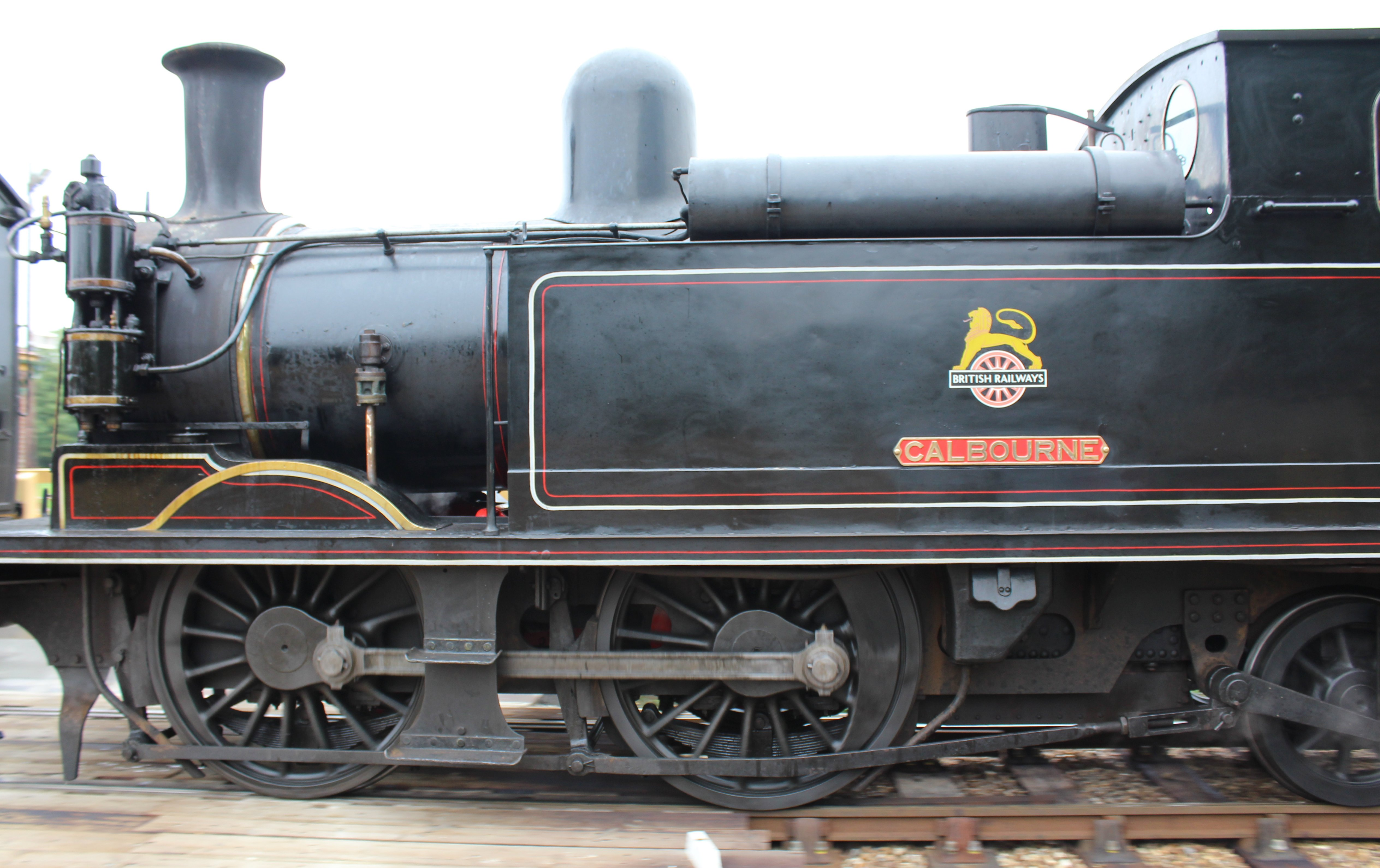 Isle Of Wight Steam Railway Havenstreet Ex Lswr Class W Calbourne on How A Steam Locomotive Works