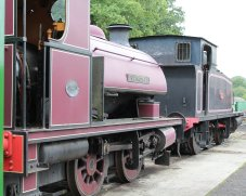 2013 - Isle of Wight Steam Railway - Havenstreet - Hawthorn Leslie 0-4-0ST Invincible & Barclay 0-6-0T No.W38 Ajax