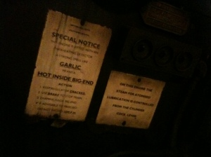 More notices in the Canadian Pacifics cab this time from the Southern Railway