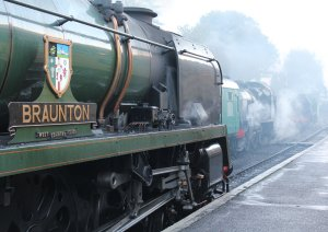 2013 Watercress Line Autumn Steam Spectacular - Ropley - West Country class - 34046 Braunton & U class 31806 & 850 Lord Nelson