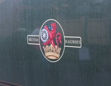 2013 Watercress Line Autumn Steam Spectacular - Ropley - Rebuilt West Country class - 34046 Braunton BR late emblem