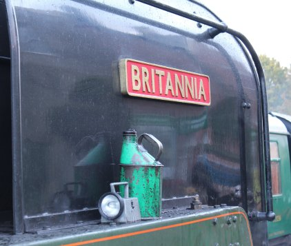2013 Watercress Line Autumn Steam Spectacular - Ropley - BR Standard 7MT class 70000 Britannia nameplate