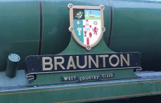 2013 Watercress Line Autumn Steam Spectacular - Ropley - Rebuilt West Country class - 34046 Braunton nameplate