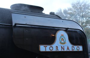 2013 Watercress Line Autumn Steam Spectacular - Ropley - A1 class 60163 Tornado nameplate