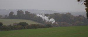 2013 Watercress Line Autumn Steam Spectacular - Approaching Ropley - BR Standard 7MT class 70000 Britannia