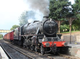 2013 Watercress Line Autumn Steam Spectacular - Ropley - Ex-LMS Black 5 45379 demonstration goods