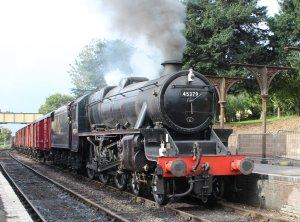 2013 Watercress Line Autumn Steam Spectacular - Ropley - Ex-LMS Black 5 45379 demonstration goods