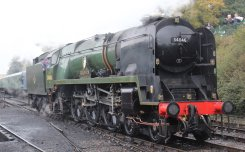 2013 Watercress Line Autumn Steam Spectacular - Ropley - Rebuilt West Country class - 34046 Braunton