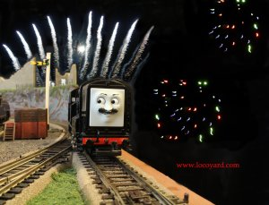 Locoyard - 5th November - Movember fireworks night (Thomas the Tank Engine)
