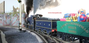 SDJR Fowler 4F 0-6-0 comes to the rescue to fill-in whilst the Christmas pannier is out of action!
