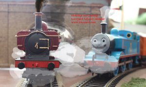 Locoyard Christmas Pannier 2783 - The Holidays are Coming - Movember Thomas the Tank Engine