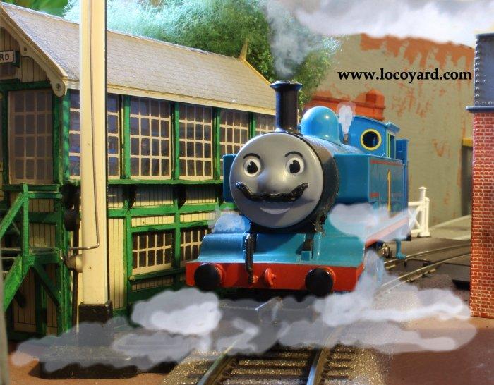 Locoyard Movember competition 2013 - Thomas the Tank Engine
