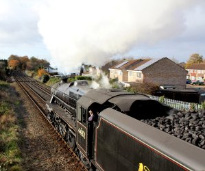 2013 - Mainline Steam - The Cathedrals Express - LMS Class 5MT 4-6-0 no 44871 & 45407 (depart Eastleigh)