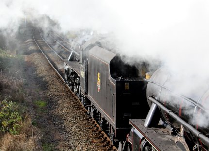 2013 - Mainline Steam - The Cathedrals Express - LMS Class 5MT 4-6-0 no 44871 and 45407 (depart Eastleigh)