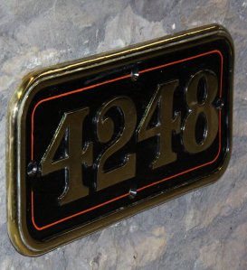 2013 - STEAM Museum of the GWR - Swindon - GWR 42xx Class - 4248 numberplate