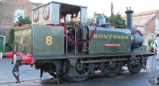Xmas 2013 - Isle of Wight Steam Railway - Havenstreet - Ex-LBSCR A1X Terrier W8 Freshwater
