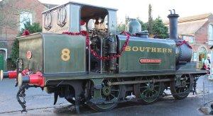 Xmas 2013 - Isle of Wight Steam Railway - Havenstreet - Ex-LBSCR A1X Terrier W8 Freshwater