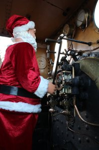 Isle of Wight Steam Railway - Santa Claus drives A1X Terrier W8 Freshwater