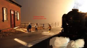 Locoyard Advent Calendar - Winter Platform Scene - 60163 Tornado