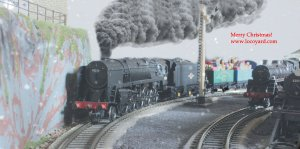 The latest Christmas present delivery required some major power - supplied by BR Standard 9F 2-10-0 class 92212!