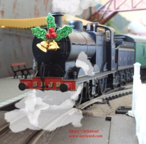 Complete with Holly and Bell's, Bachmann 4F 0-6-0 58 has returned from Lapland to haul passenger services.  At Santa's request, a much more powerful locomotive will be hauling the next batch of presents bound for Lapland...