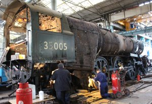 A special Advent Calendar blog entry for all volunteers who work on our heritage railways and locomotives. Here are Mid-Hants Railway's volunteer's working on stripping down and inspecting Merchant Navy class 35005 Canadian Pacific