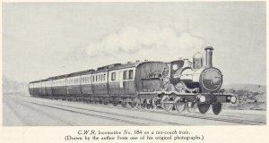 19th Century GWR Engines - March 1942 Railways Magazine (2-4-0 No 184)