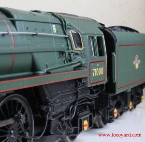 Locoyard Review - Hornby BR Standard 8P class - 71000 Duke of Gloucester (cab windows)