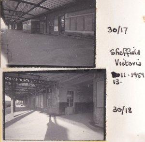 Nick Littlewood - The deserted inside of Sheffield Victoria station 13 November 1969