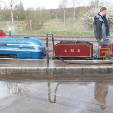 2014 - Eastleigh Lakeside Steam Railway - Spring Steam Gala - 6220 Coronation & 6100 Royal Scot