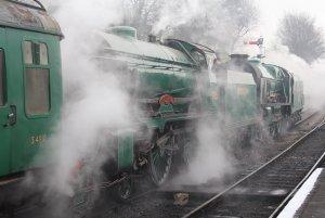 2014 - Watercress Line - Spring Steam Gala - Ropley - schools class 925 Cheltenham & 850 Lord Nelson