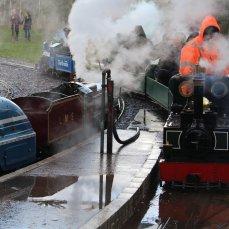 2014 - Eastleigh Lakeside Steam Railway - Spring Steam Gala - 6220 Coronation, 6110 Royal Scot, L&BR 2-6-2T No. 761 'Taw'