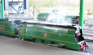 2014 - Eastleigh Lakeside Steam Railway - Spring Steam Gala - SR Merchant Navy 4-6-2 No. 21C1 Channel Packet