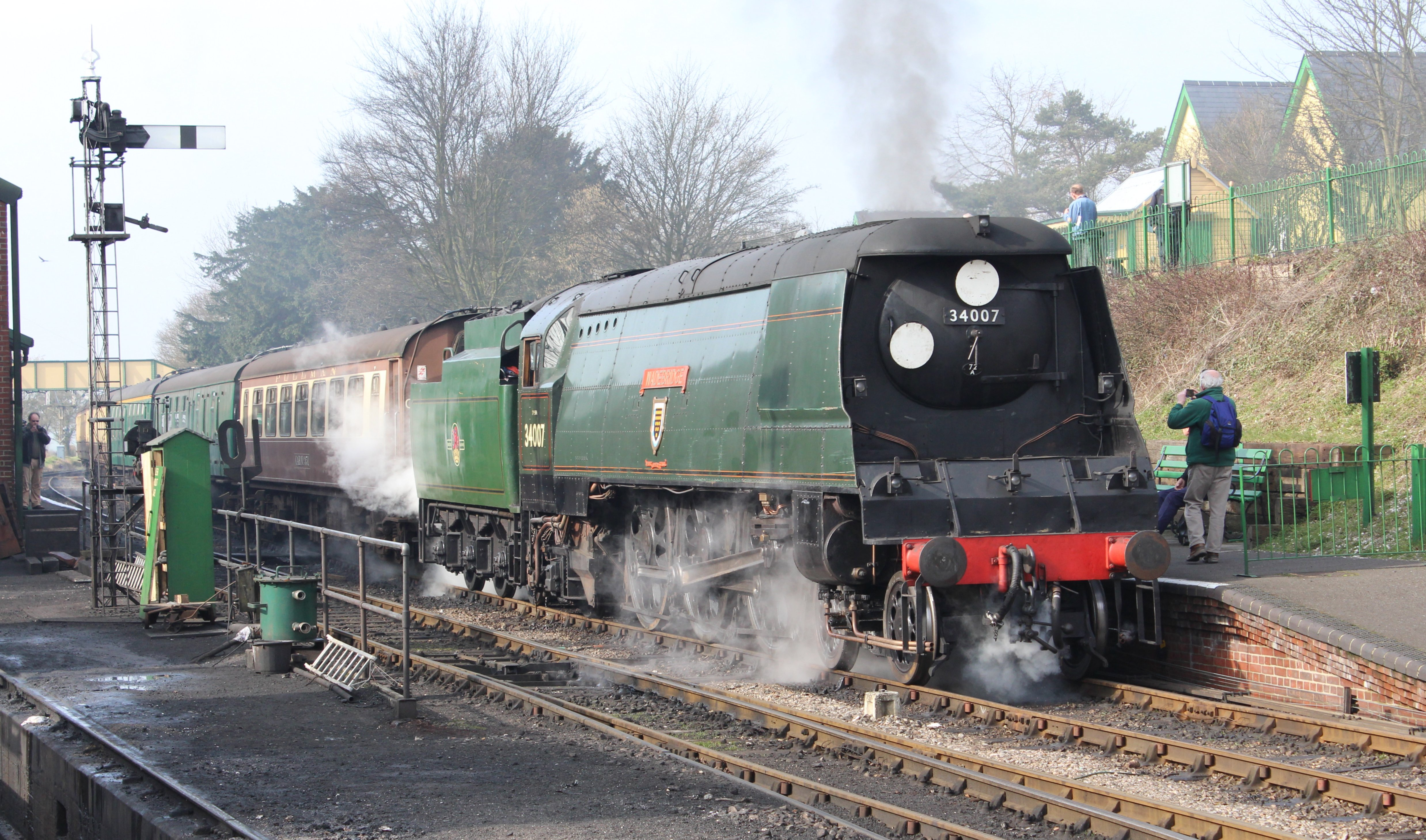 34007 >> 2014 Watercress Line Spring Steam Gala Ropley Unrebuilt West