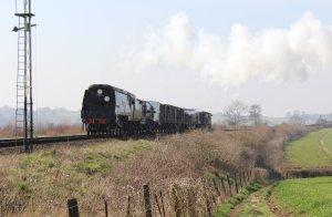 2014 - Watercress Line - Spring Steam Gala - Ropley - unrebuilt West Country Class 34007 Wadebridge - demonstration goods