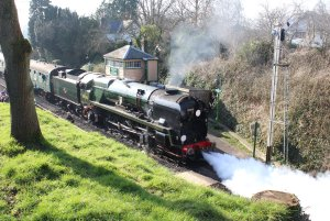 2014 - Watercress Line - Spring Steam Gala - Medstead & Four Marks - rebuilt West Country class - 34046 Braunton