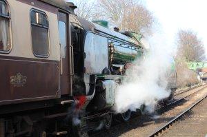 2014 - Watercress Line - Spring Steam Gala - Ropley - Merchant schools class 925 Cheltenham