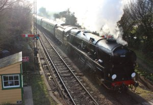 157 - 2014 - Watercress Line - Spring Steam Gala - Ropley - Merchant Navy Class - 35028 Clan Line