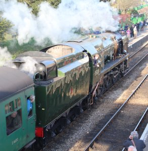 159 - 2014 - Watercress Line - Spring Steam Gala - Ropley - Merchant Navy Class - 35028 Clan Line
