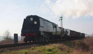 Wadebridge hauling the freight