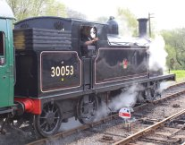 2014 - Swanage Railway - Corfe Castle - Ex-LSWR M7 class - BR 30053