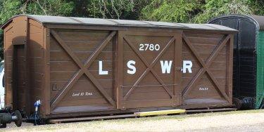 2014 - Swanage Railway - Corfe Castle - LSWR van