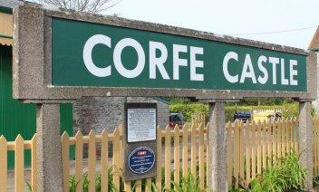 2014 - Swanage Railway - Corfe Castle - sign