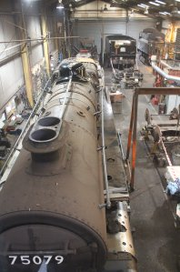 2014 - Watercress Line - Spring Steam Gala - Ropley - BR Standard class 4MT 4-6-0 - 75079