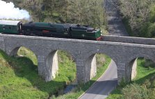 2014 - Swanage Railway - Corfe Castle - Rebuilt West Country class - 34028 Eddystone