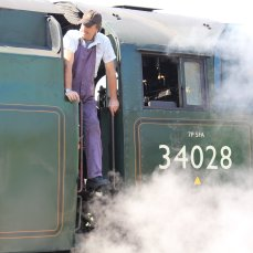 2014 - Swanage Railway - Nordon - Rebuilt West Country class - 34028 Eddystone